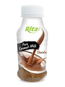 250ml PP bottle Coconut Milk with Chocolate
