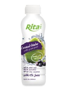 500ml PP bottle Coconut Water with Grape Juice
