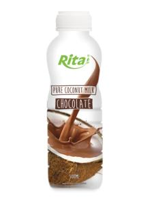 500ml PP bottle Coconut Milk with Chocolate