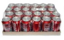 100% Coca Cola 330ml and other soft drinks