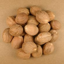 Dried Whole Nutmegs: Nutmegs whole, Ground and Granules- (Steam Sterilised) Packing: 15kgs vacuum pa