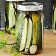 Cucumber, Gherkin Soaking In Vinegar For Bakery