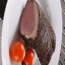 Frozen Skin-on Boneless Smoked Duck Breast Meat with Black Pepper