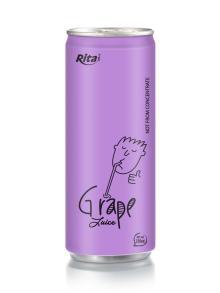 250ml aluminum can Grape Juice drink