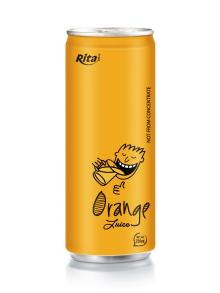 250ml aluminum can Orange Juice drink