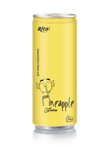 250ml aluminum can Pineapple Juice drink
