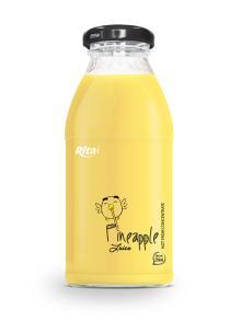 250ml glass bottle Pineapple Juice drink