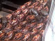 THAILAND dry fish smoke catfish Grilled fish