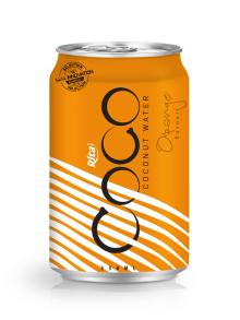330ml Alu Can Orange flavour Coconut Water
