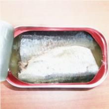 Canned sardines in oil in club can