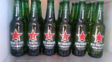 250cl Heineken lager beer bottles,!
