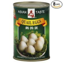 Canned quail eggs in brine