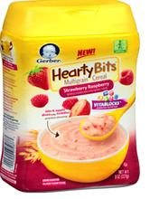 Gerber Hearty Bites Cereal Multigrain Strawberry Raspberry
