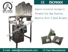 4 Electric Scales Automatic Pyramid Bag Tea Packaging Machine