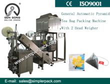 Automatic Pyramid Tea Bag Packing Machine with Outer Envelope