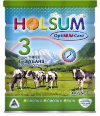 Holsum Infant Formula stage 1, 2, 3/ baby Milk Powder for Sale 400g Arabic Text