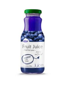 250ml Glass Bottle Blueberry Juice