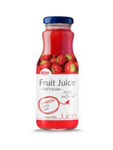 250ml Glass Bottle Strawberry Juice