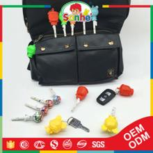 Cartoon shaped candy toy lollipop with key chain
