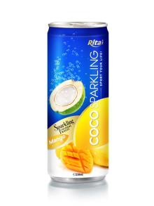 250m Alu Can Mango Flavour Sparkling Coconut Water