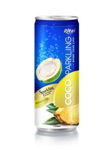 250m Alu Can Pineapple Flavour Sparkling Coconut Water