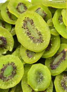 Dried organic kiwifruit