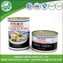 canned meat canned steamed pork meat