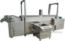 Gas  Heating  Co ntinuous Nuts Frying Machine with Oil Filtering Function