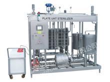 Plate type sterilizer, juice sterilizer