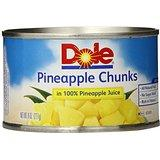 Pineapple Chunks in Juice, 8 Ounce Cans (Pack of 12)