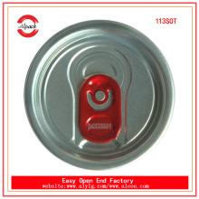 The pull cover seal 113#SOT aluminum easy open end for beverage can packing