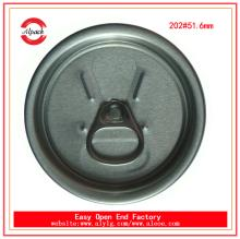 Hot sell 202 RPT beverage easy open end for juice can packing