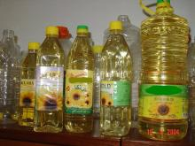 bottled sunflower refined oil
