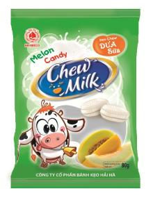 Chew milk-melon candy