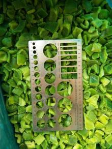 new crop vegetables IQF green Pepper cut, Frozen Sweet Pepper