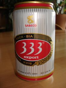 Saigon 333 light Lager Beer in 330ml Can