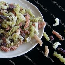 Italian organic rice fusilli with multi-colored