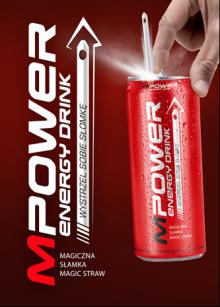 Brand NEW!!! MPower energy drink 0,25L with magic straw BEST PRICE!!!