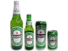 Heineken cans and bottles