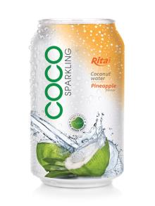 330ml Pineapple flavor Sparkling Coconut Water
