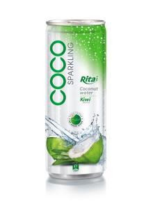 250ml Kiwi flavor Sparkling Coconut Water