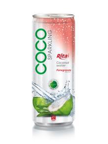 250ml Pomegrante flavor Sparkling Coconut Water