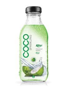 Kiwi flavor Sparkling Coconut Water