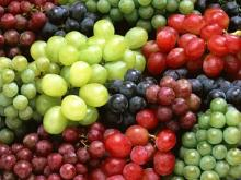 South Africa Sweet red grapes