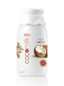 360ml PP bottle Coconut Milk with Latte Coffee