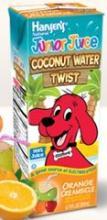 Hansen's Junior Juice Coconut Water Twist Kids Orange Creamsicle