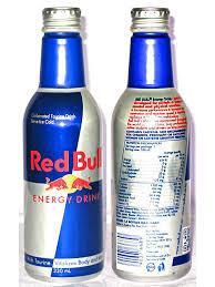 Red bull bottle energy drink