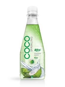 300ml Pet bottle Kiwi flavor Sparkling Coconut Water