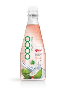 300ml Pet bottle Watermelon flavor Sparkling Coconut Water