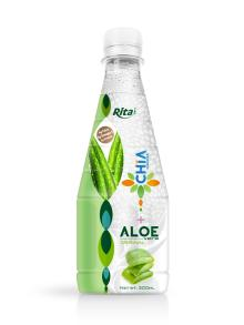 300ml Pet bottle Passion flavor Chia Seed with Aloe Vera Drink